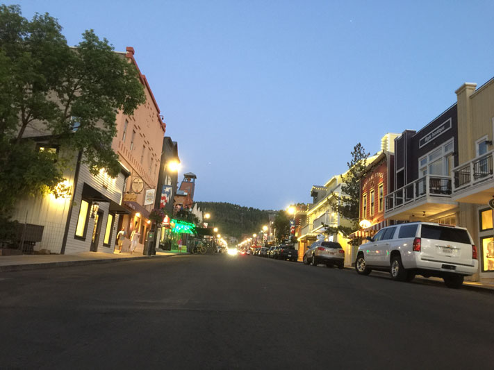 dusk at park city main street